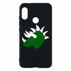 Phone case for Mi A2 Lite Green dinosaur head - PrintSalon