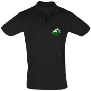 Men's Polo shirt Green dinosaur head - PrintSalon
