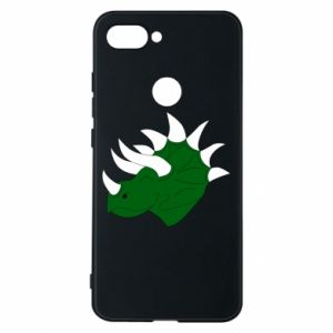 Phone case for Xiaomi Mi8 Lite Green dinosaur head - PrintSalon