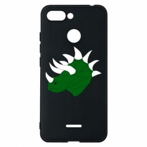 Phone case for Xiaomi Redmi 6 Green dinosaur head - PrintSalon