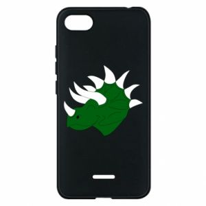 Phone case for Xiaomi Redmi 6A Green dinosaur head - PrintSalon