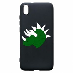 Phone case for Xiaomi Redmi 7A Green dinosaur head - PrintSalon
