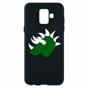 Phone case for Samsung A6 2018 Green dinosaur head - PrintSalon