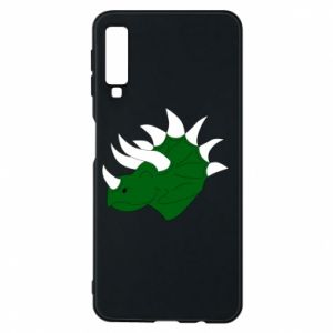 Phone case for Samsung A7 2018 Green dinosaur head - PrintSalon