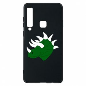 Phone case for Samsung A9 2018 Green dinosaur head - PrintSalon