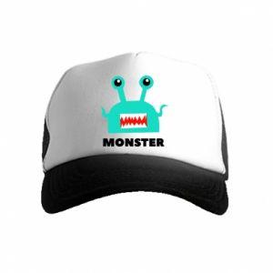 Kid's Trucker Hat Green monster