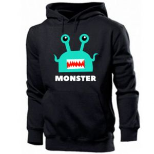 Męska bluza z kapturem Green monster