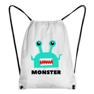 Backpack-bag Green monster