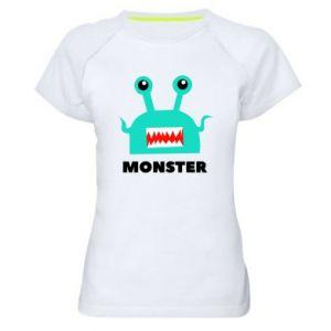 Damska koszulka sportowa Green monster