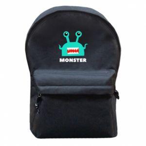 Plecak z przednią kieszenią Green monster
