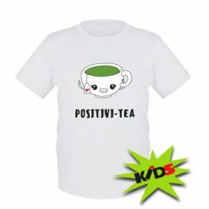 Koszulka dziecięca Green positivi-tea