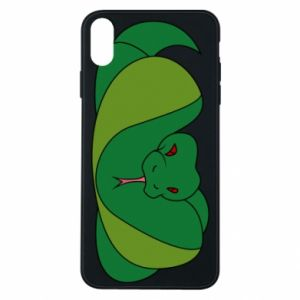 Phone case for iPhone Xs Max Green snake