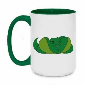 Kubek dwukolorowy 450ml Green snake