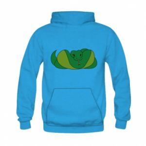 Bluza z kapturem dziecięca Green snake