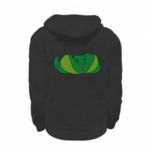 Bluza na zamek dziecięca Green snake