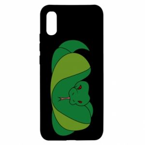 Etui na Xiaomi Redmi 9a Green snake