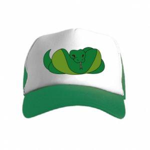 Czapka trucker dziecięca Green snake