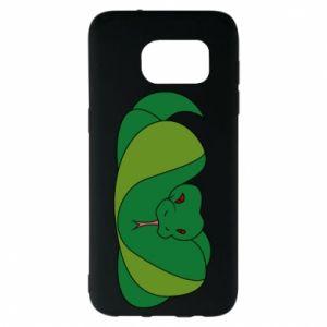 Etui na Samsung S7 EDGE Green snake