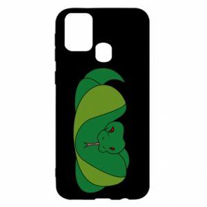 Etui na Samsung M31 Green snake