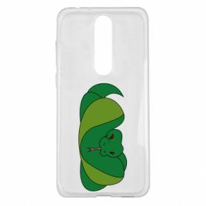 Etui na Nokia 5.1 Plus Green snake