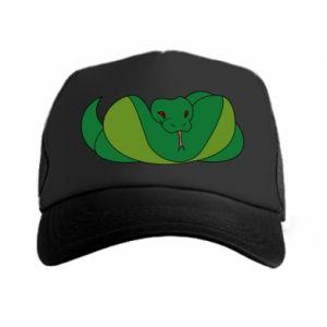 Czapka trucker Green snake - PrintSalon