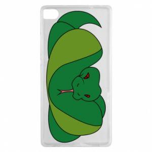 Etui na Huawei P8 Green snake