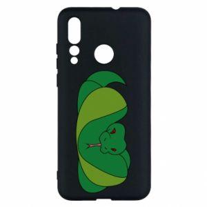 Etui na Huawei Nova 4 Green snake