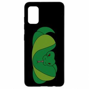Etui na Samsung A41 Green snake