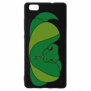 Etui na Huawei P 8 Lite Green snake