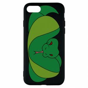 Etui na iPhone SE 2020 Green snake