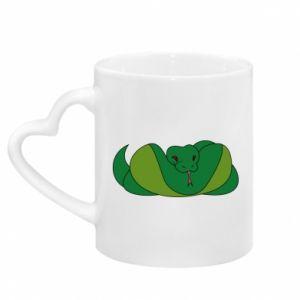 Kubek z uchwytem w kształcie serca Green snake