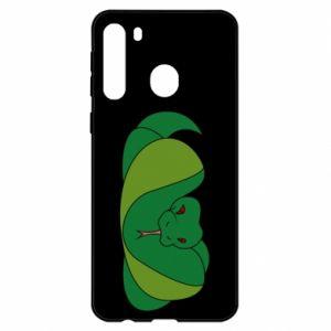 Etui na Samsung A21 Green snake