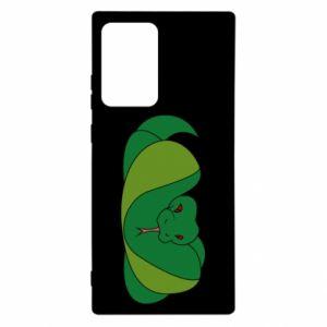 Etui na Samsung Note 20 Ultra Green snake