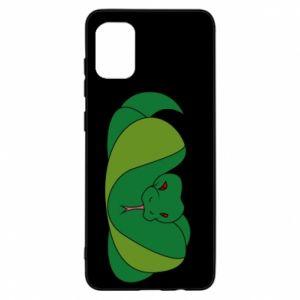 Etui na Samsung A31 Green snake