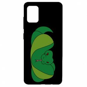 Etui na Samsung A51 Green snake