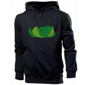 Męska bluza z kapturem Green snake - PrintSalon