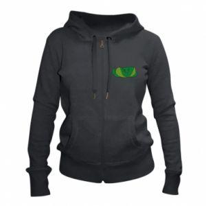 Damska bluza na zamek Green snake - PrintSalon