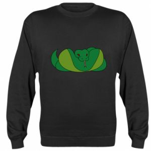 Bluza (raglan) Green snake - PrintSalon