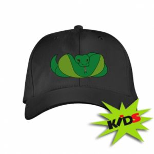 Dziecięca czapeczka z daszkiem Green snake - PrintSalon