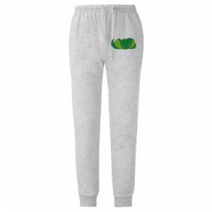 Męskie spodnie lekkie Green snake - PrintSalon
