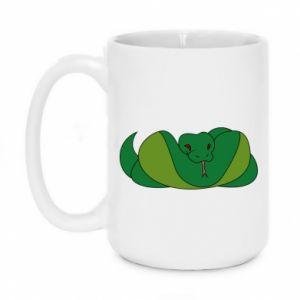 Kubek 450ml Green snake - PrintSalon