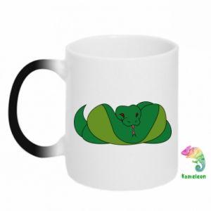 Kubek-kameleon Green snake