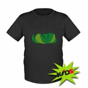 Dziecięcy T-shirt Green snake - PrintSalon