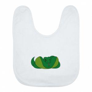 Śliniak Green snake - PrintSalon