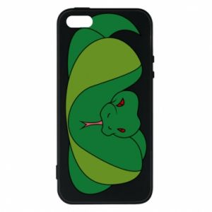 Phone case for iPhone 5/5S/SE Green snake