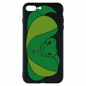 Phone case for iPhone 8 Plus Green snake