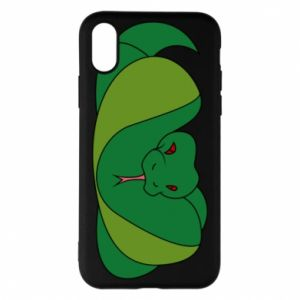 Phone case for iPhone X/Xs Green snake