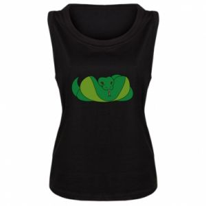 Damska koszulka Green snake - PrintSalon