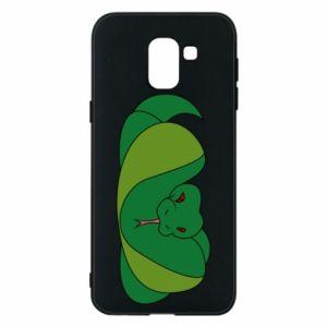 Etui na Samsung J6 Green snake