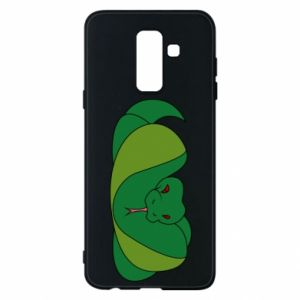 Phone case for Samsung A6+ 2018 Green snake